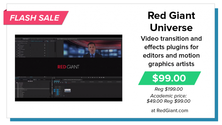 Red Giant Universe Video Transitions and Effects Plugins