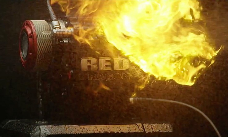 RED EPIC DRAGON on Fire GDU 24mm Lens