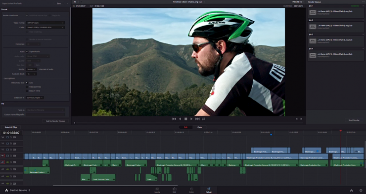 Resolve 12 Editing Interface