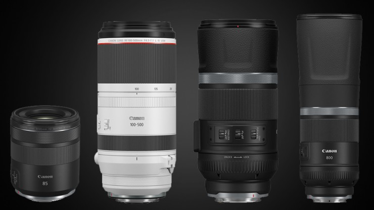 Canon's Four New RF Lenses Arm You With Focal Length Variety