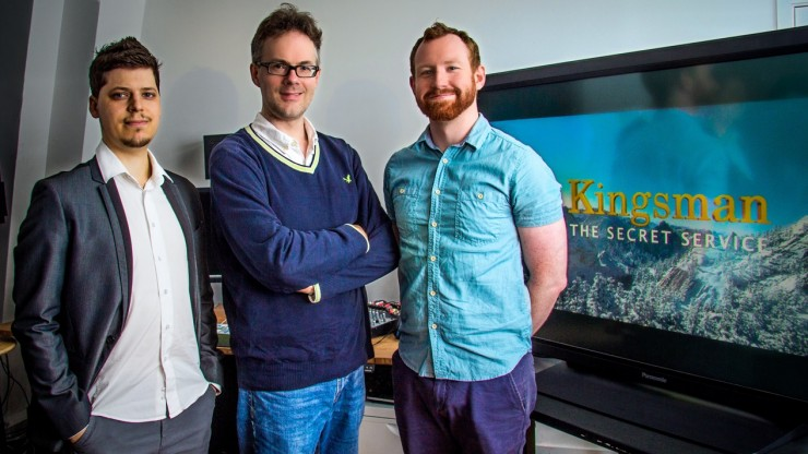 Eddie Hamilton with His Assistant Editors on Kingsman