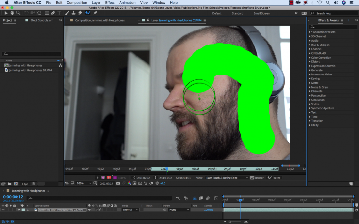 The Roto Brush from Adobe After Effects Makes Rotoscoping