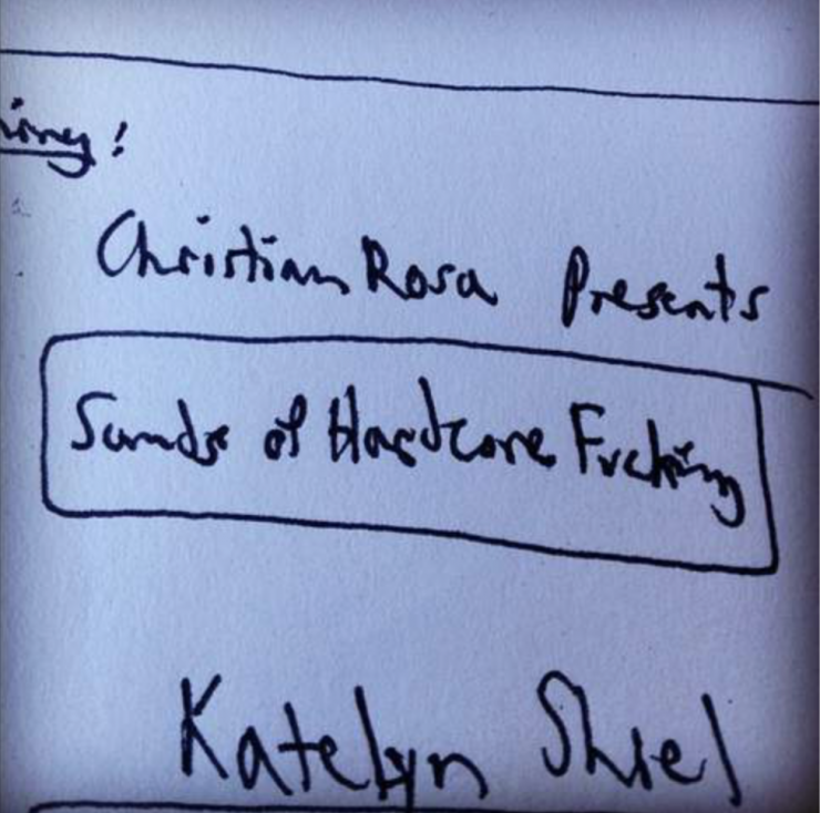 Here we have one of several misspellings of Kate's surname. They haunted Eugene throughout the movie, but were all duly corrected.
