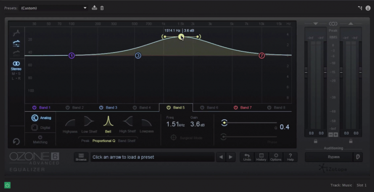 Parametric EQ Notching