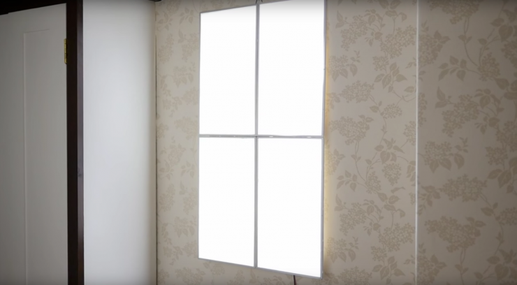 Turn 4 old laptop screens into a 39 fake window 39 light panel Fake window for basement