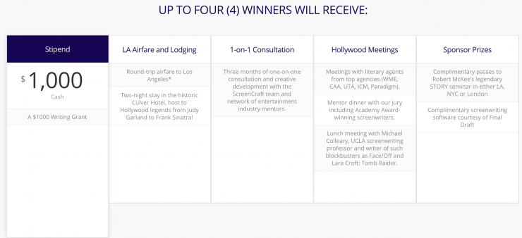Screencraft's 3rd Annual Screenwriting Fellowship — Winners will Receive