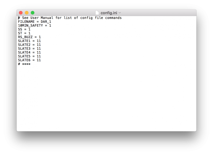 Little DARling config.ini example