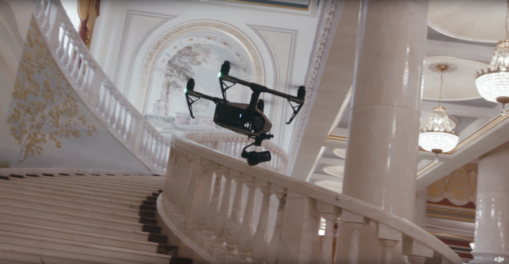 On set with the Zenmuse X7 from DJI