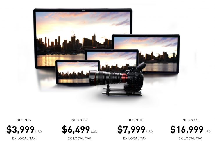 Size Comparison and Pricing for the New Atomos Neon Line of Monitor/Recorders
