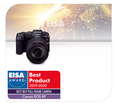 Canon's EOS RP Voted Best Full Frame Camera at EISA Awards