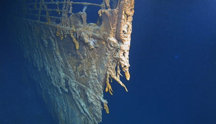 4K images of the Titanic have been released, showing the wreck's rapid decline.