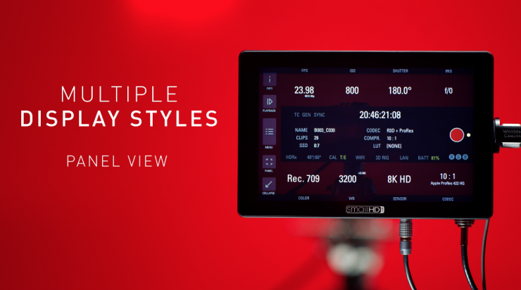 Multiple Display Views Control RED's Camera menu system