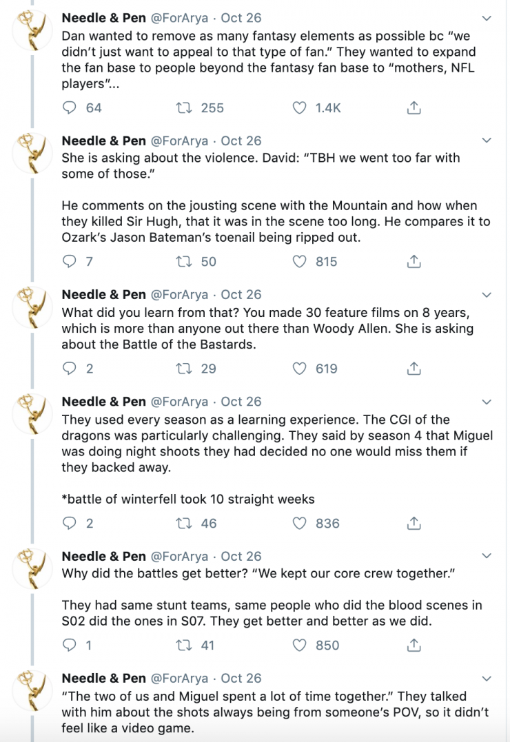 This 'Game of Thrones' Twitter Thread Reveals How the