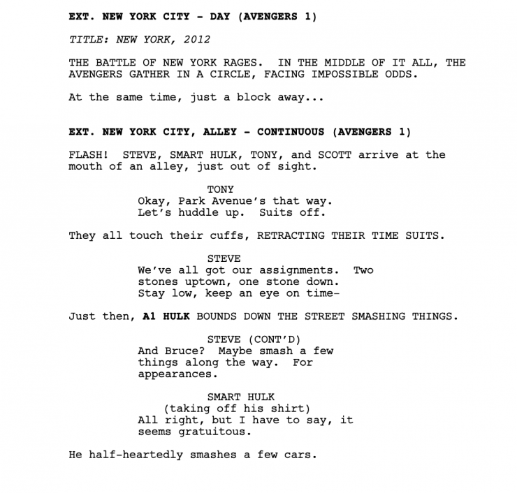 Avengers Endgame Script Read And Download It Now