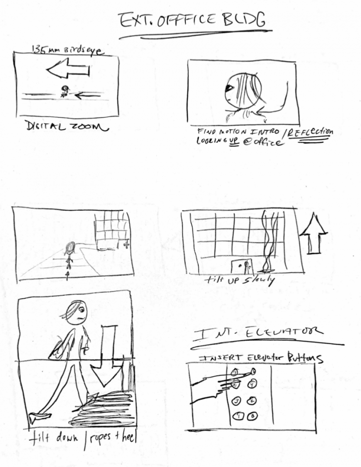 Morgan Krantz Squeegee Storyboards