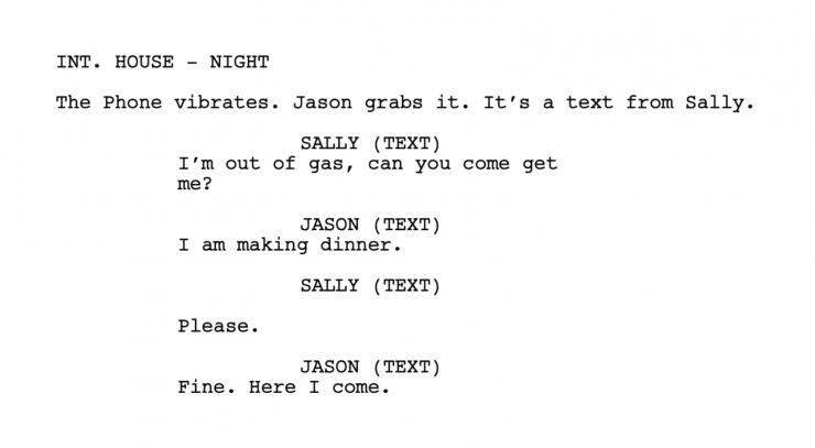 How to Format Text Messages in a Screenplay