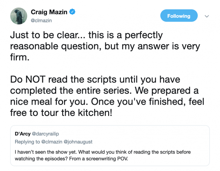 Download all the 'Chernobyl' Scripts from Craig Mazin