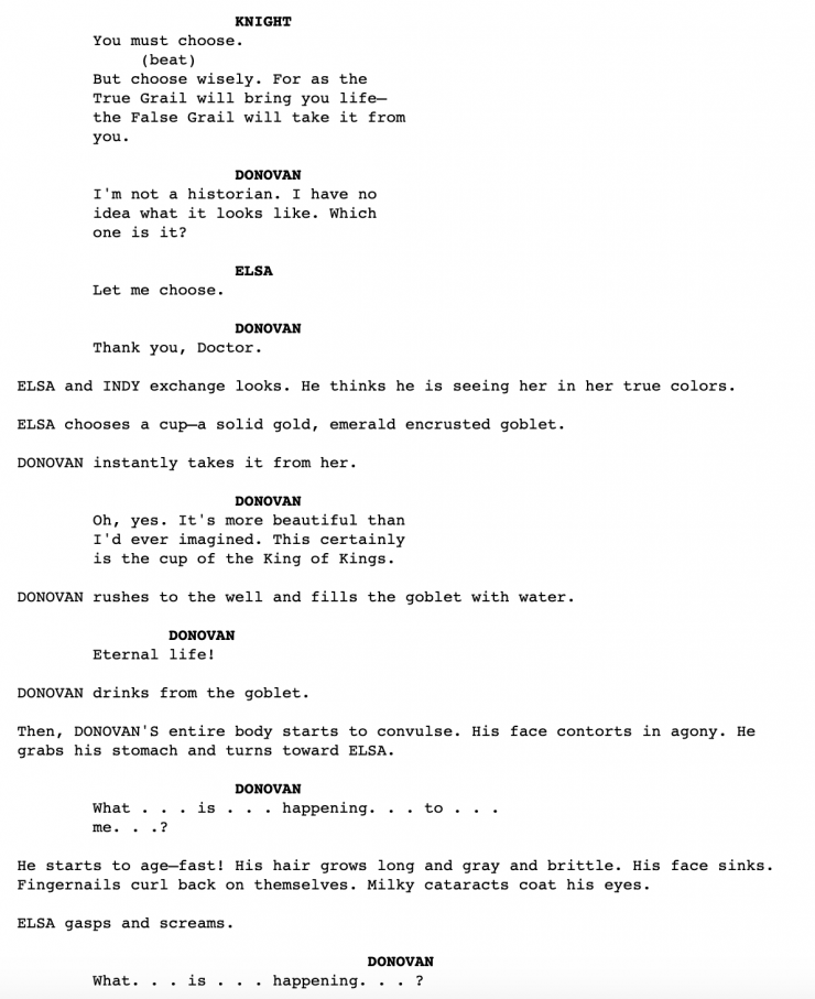 Download the 'Indiana Jones and the Last Crusade' Script PDF