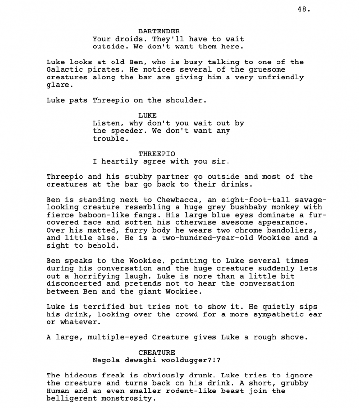 Download The Star Wars Script Pdf And Build Your World