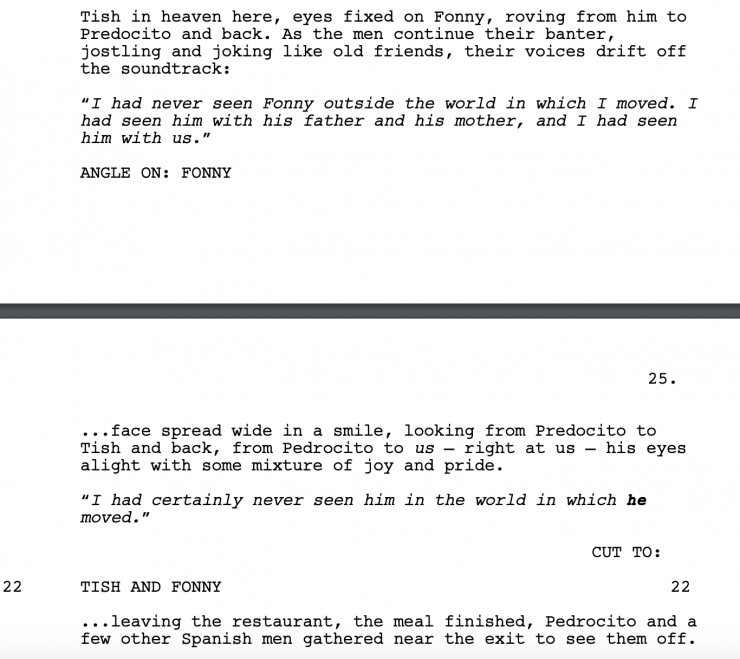 if beale street could talk screenplay