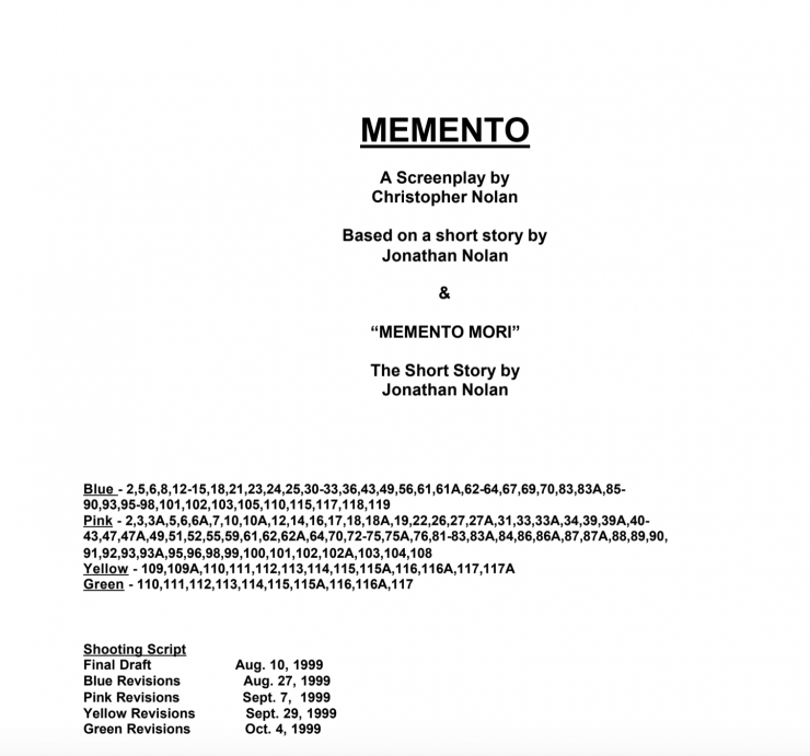 shooting script example