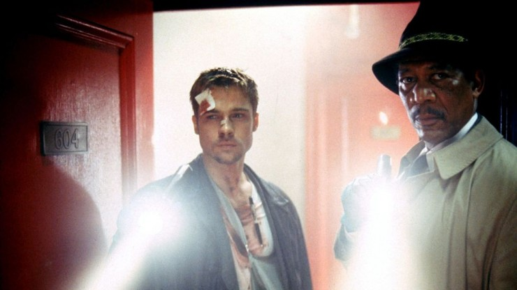 Brad Pitt and Morgan Freeman Se7en