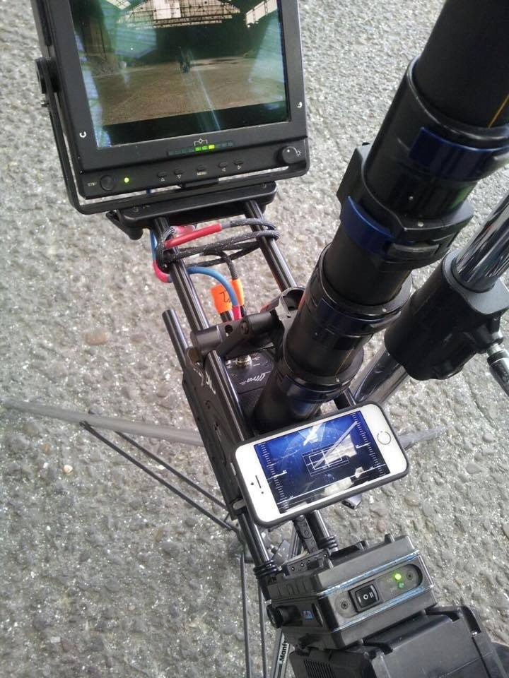 Shot Assistant App Mounted to Steadicam