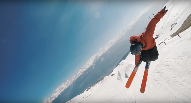 This Skier And His Poor Mans Drone Captured Some Amazing Aerial Shots