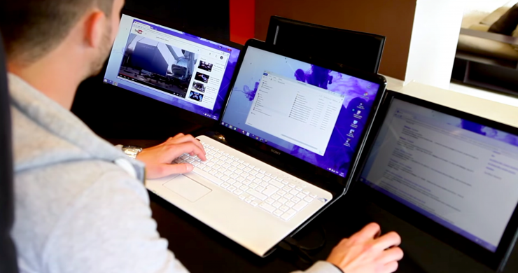 Portable Laptop Screen : This nifty invention doubles or triples your laptop s