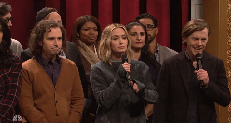 Snl And Emily Blunt Perfectly Capture What A Short Film Festival Q Is Like