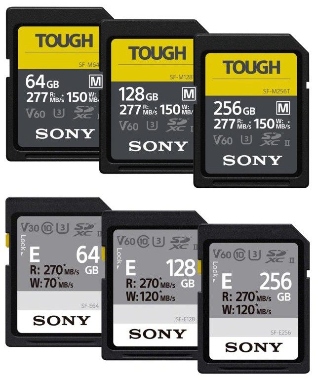 Sony's New Line of SF-M and SF-E Tough Cards