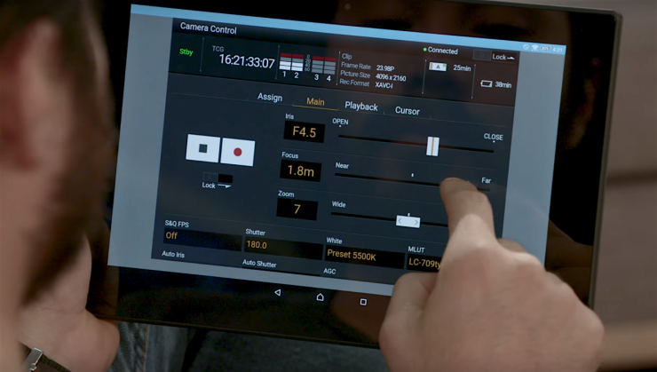 Sony Cinema Camera Wifi Control