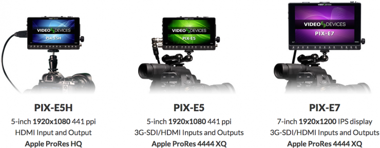 Sound Devices PIX-E Series 1080p Monitor 4K Recorder