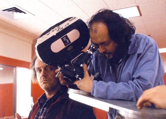Stanley Kubrick on the set of 'The Shining'