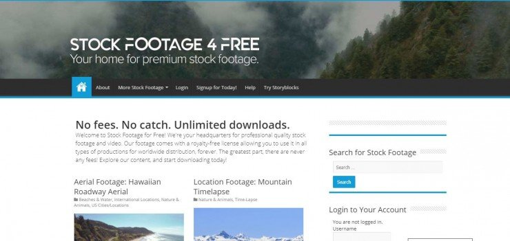 StockFootage4Free Home Page