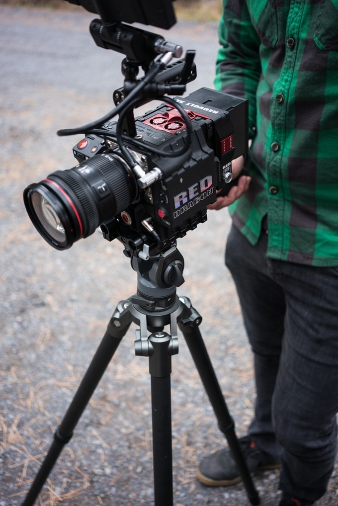 The International 4lb tripod from Nice Industries Supports RED Camera