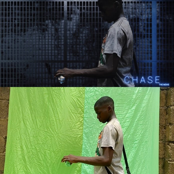 Teen Nigerian Filmmakers are self taught with visual effects.