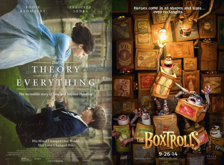 The Theory of Everything, The Boxtrolls Screenplays Available For Your Consideration