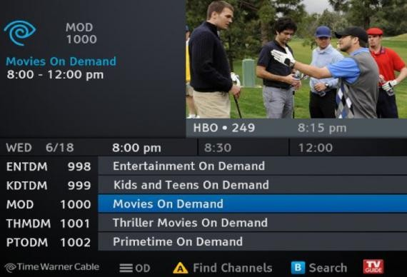 time warner cable channel tv guide