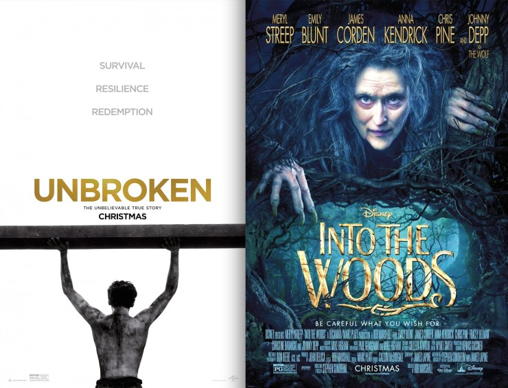 Unbroken, Into the Woods Screenplays Available For Your Consideration