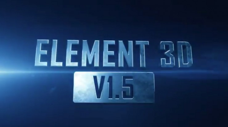 Element 3D After Effects Plug-In: Free 1 5 Update Released
