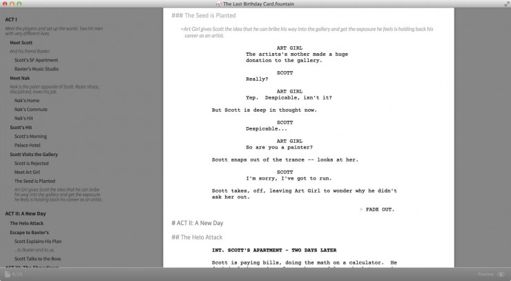 Screenwriting in Plain Text