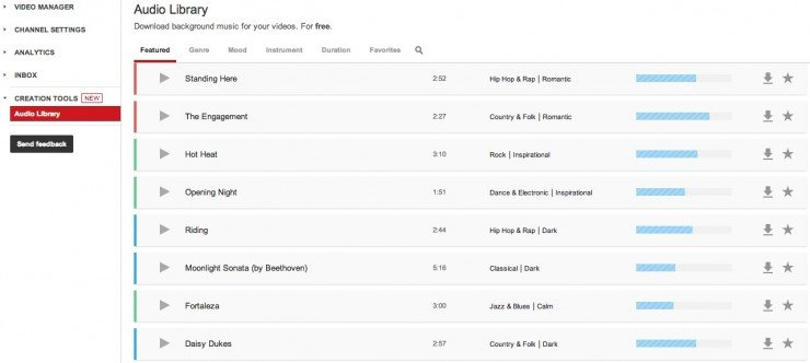Get Free Music Tracks For Your Videos Through The New Youtube Audio Library