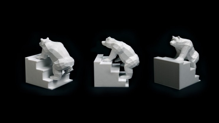 The Next Step In Stop Motion Animation Bears On Stairs Made - 3d printed stop motion animation bear stairs