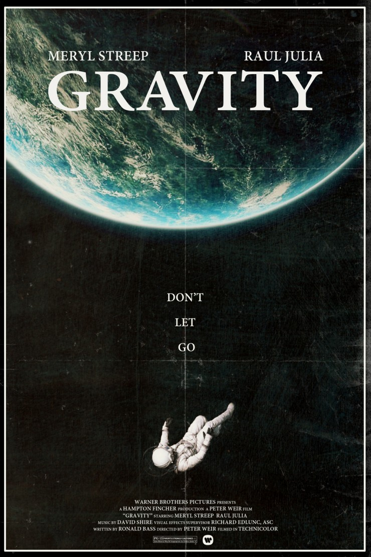 movie posters gravity alternative movies famous poster film reimagined modern different films timeline stults peter ポスター 映画 actors these alternate