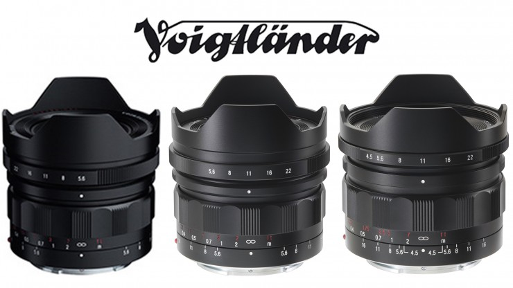 Voigtlander Three Lenses HERO - 10mm 12mm 15mm
