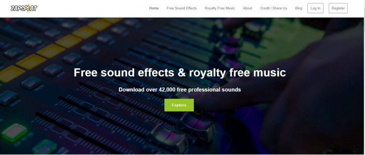 Zapsplat Free Sound Effects Home Page