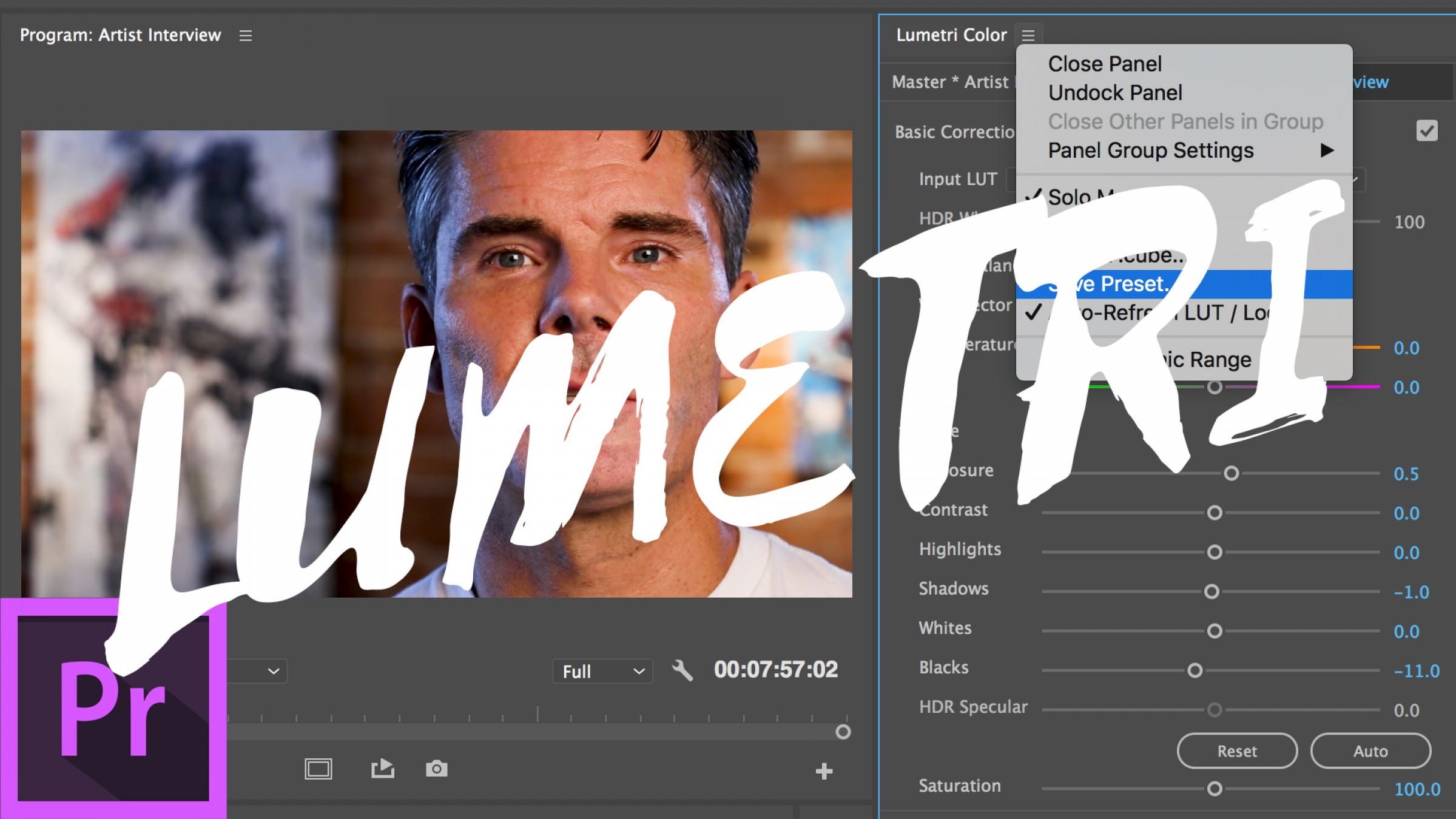 How to Create and Apply Lumetri Color Presets in Adobe Premiere Pro