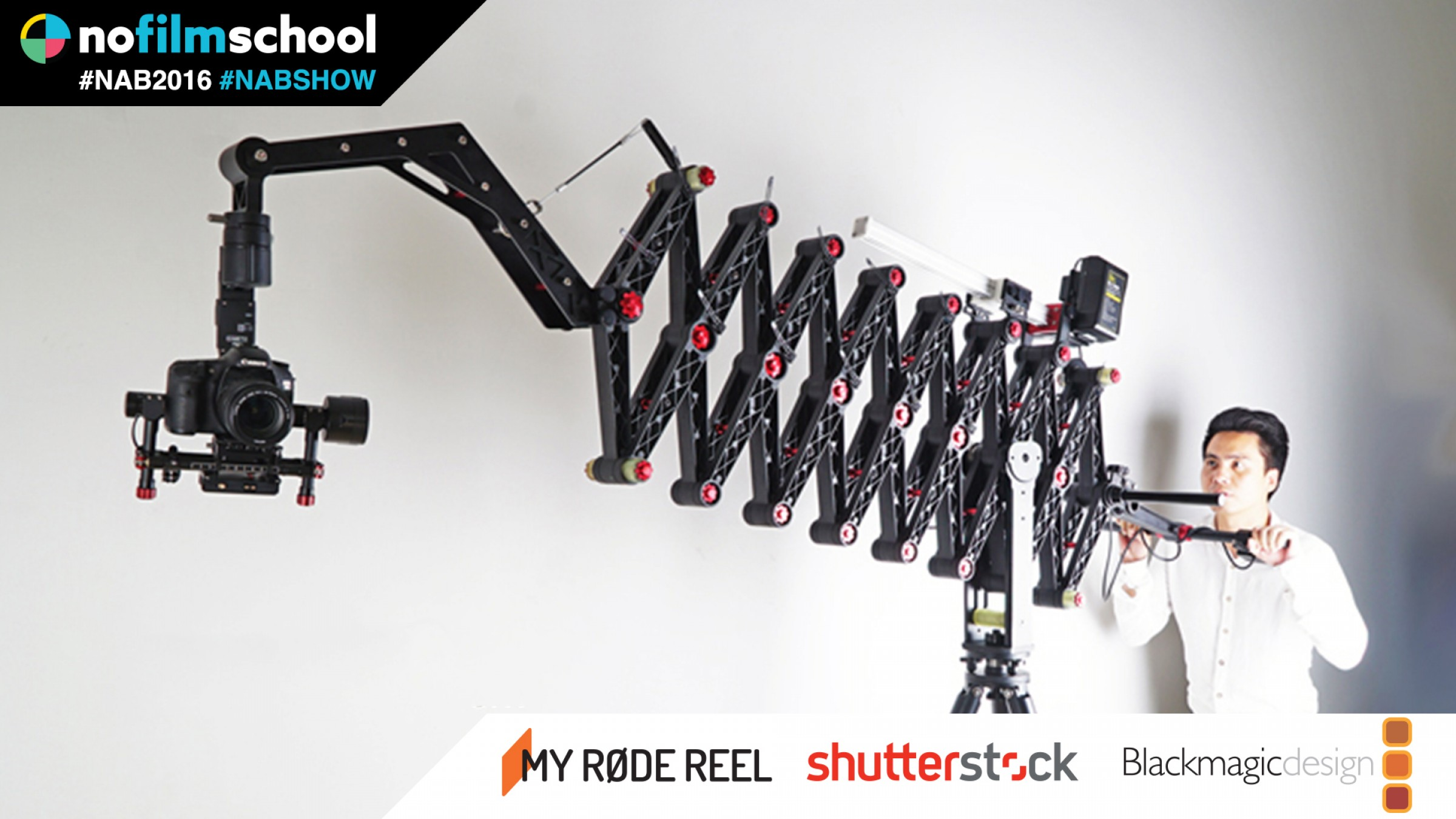 The Head-Turning Stabilizers of Came-TV, Including a 15' Crane That Looks Like an Accordion