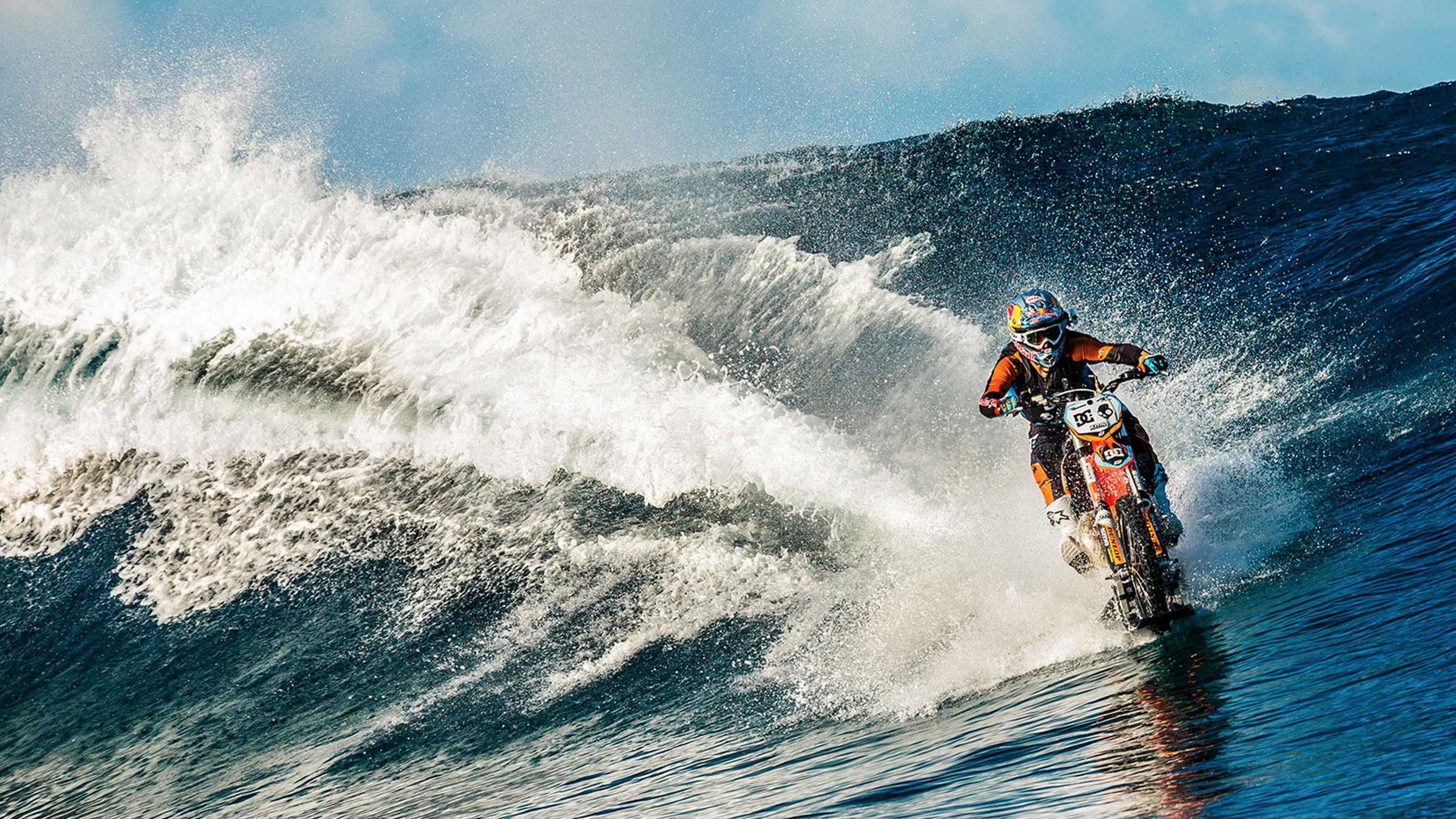 How To Surf An Ocean Wave With A Dirt Bike The